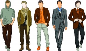 Men with different fashion style