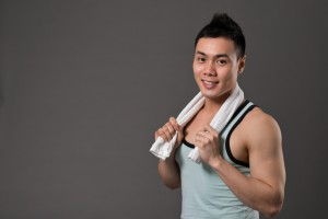 Man with healthy and fit body