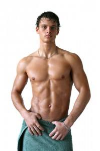 Man with muscle and healthy body