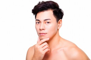 Man with healthy skin