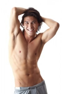 Man with fit body